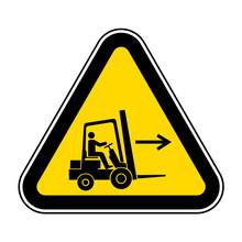 Forklift Point Right Symbol Sign Isolate On White Background,Vector Illustration EPS.10