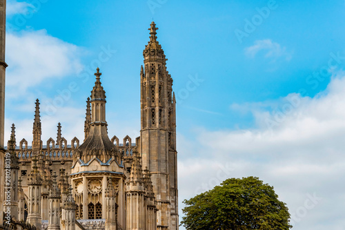 Kings College Chapel, Front Canvas Print