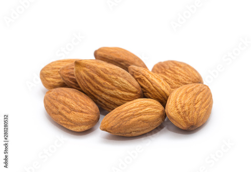 Papiers peints Nature Almond isolated on white background