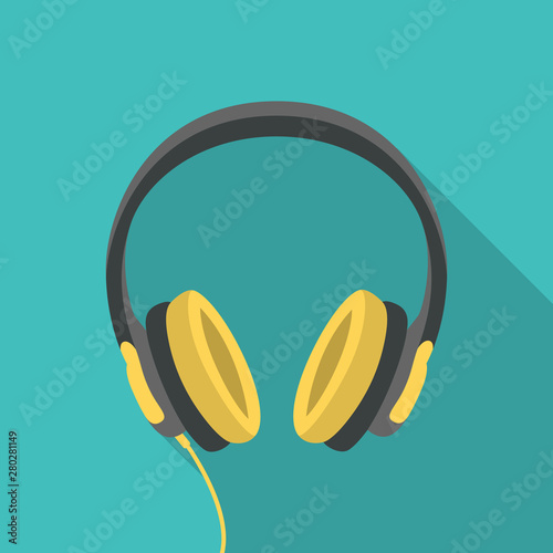 Headphones dj computer music beats sign icon symbol flat design vector Obraz na płótnie