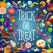 Trick And Treat, Halloween Holiday, Sweets