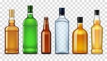 Alcohol Drinks In Bottles, Iso...