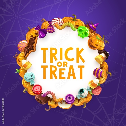 Halloween holiday candies, trick or treat sweets