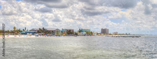Fotobehang Noord Europa Panoramic of Fort Myers Beach in Fort Myers