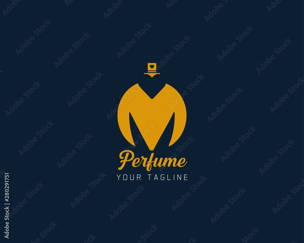 Fototapety, obrazy: Luxury professional M letter with perfume abstract Logo Template Design Vector