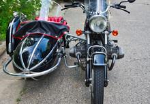 German Engineering - BMW Classic Motorcycle.