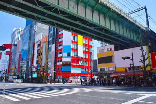 東京都千代田区の秋葉原電気街の風景 Canvas Print