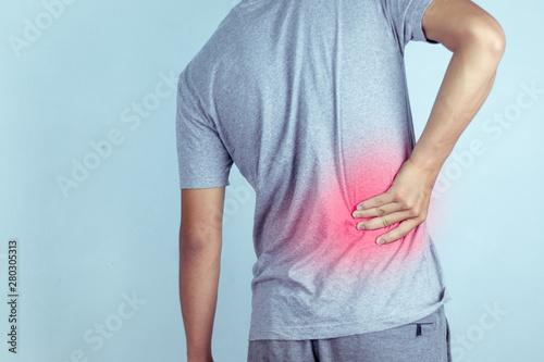Fotografie, Obraz man suffering from backache,Lower back pain.
