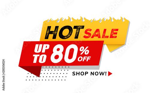 Fotomural  Hot sale price offer deal vector labels templates