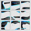 canvas print picture - Collection of social media post sport design template