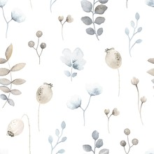 Seamless Floral Pattern With W...