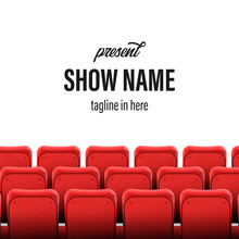 Empty Seats At The Cinema Show Stage Poster Banner Template