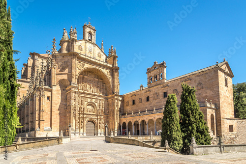View at the Buildings of San Esteban Monastery in Salamanca - Spain