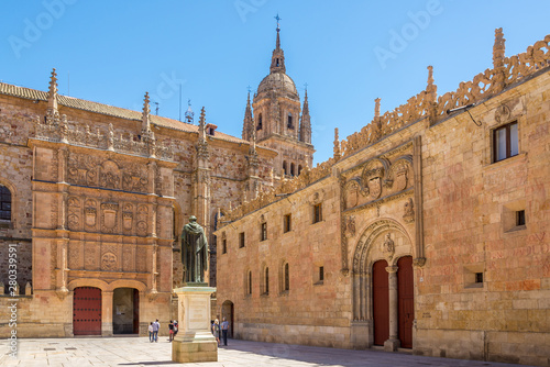 View at the Courtyard of University in Salamanca - Spain