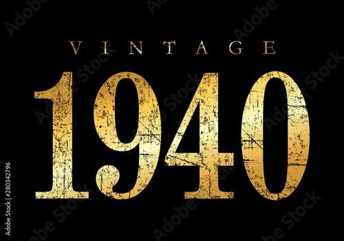 Papel de parede  Vintage 1940 (Ancient Gold)