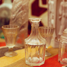 Old Decanters And Glasses