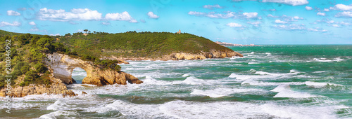 Poster Cote Gargano coast: San Felice arch (Architello)