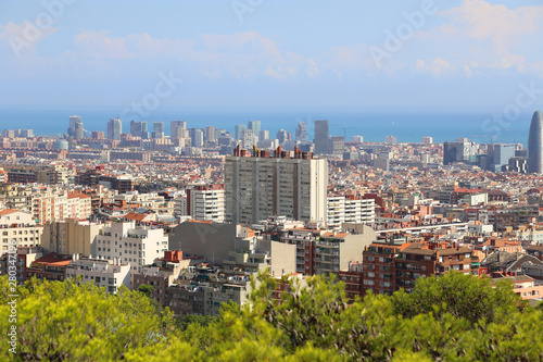 Beautiful view of Barcelona, Catalonia, Spain Wallpaper Mural