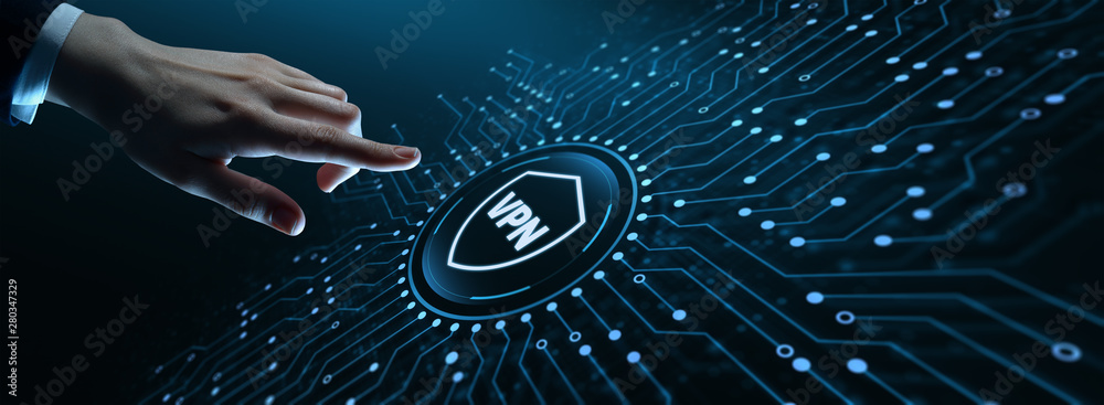 Fototapeta VPN network security internet privacy encryption concept