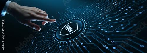 Fotografía  VPN network security internet privacy encryption concept