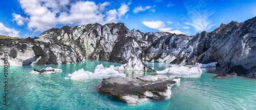 Foto auf Leinwand Grau Fantastic view on Solheimajokull glacier