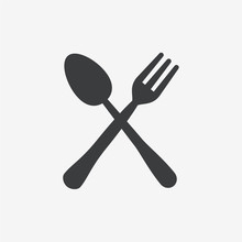 Fork & Spoon Flat Vector Icon