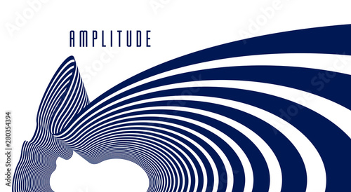 Papel de parede  3D abstract lines in perspective vector background, modern trendy design element, cool style layout for ads posters banners and covers, retro template