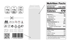 Packaging Icon Set. Nutrition ...