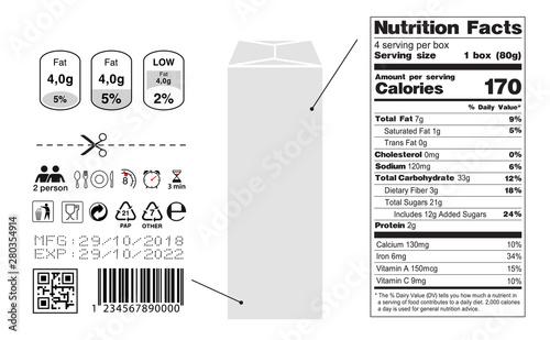 Foto Packaging icon set