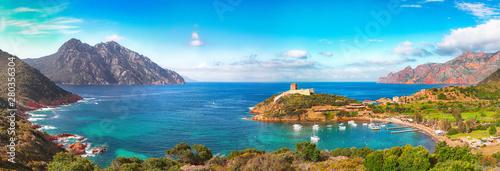 Keuken foto achterwand Kust Girolata bay in natural reserve of Scandola