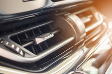 Air Conditioner In Modern Car Close Up