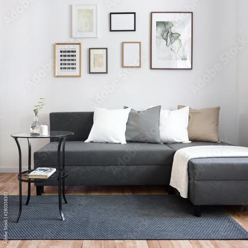 Obraz na płótnie Contemporary living room with sofa