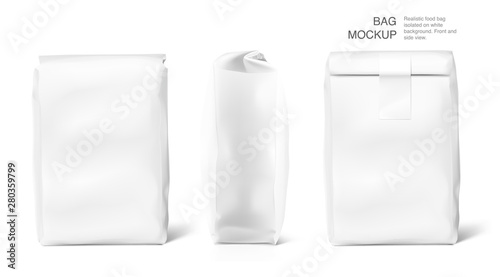 Fotografering High realistic clean vertical bag mockup with