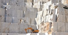 Marble Quarry With A Excavator...