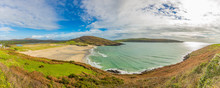 Panoramic Picture Of Barley Cove Beach In Southern West Ireland