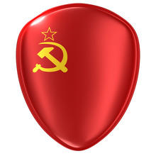 3d Rendering Of A USSR Flag Icon.