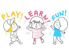 Kids Play Learn Fun Illustration