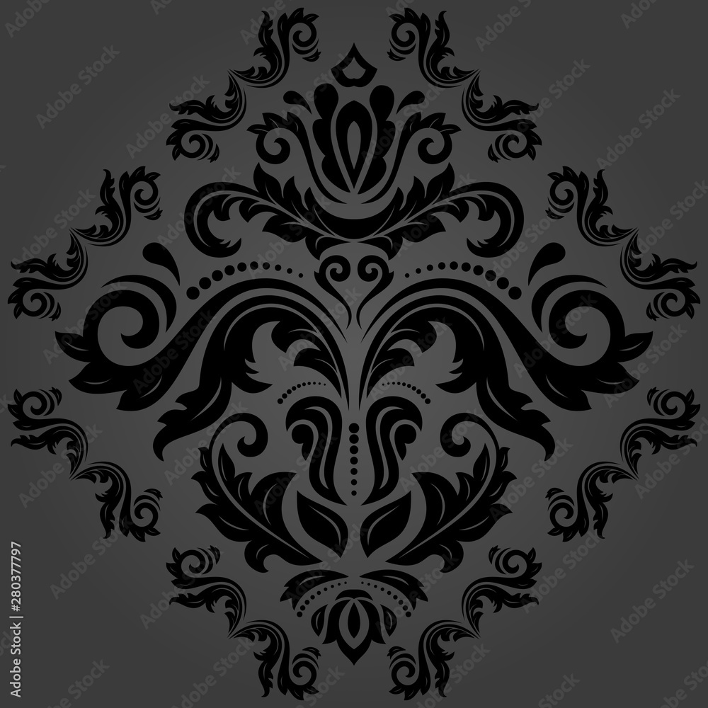Orient vector classic dark pattern. Seamless abstract background with vintage elements. Orient background. Ornament for wallpaper and packaging