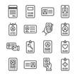 Leinwanddruck Bild - Id card icon