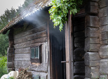 Traditional Smoke Sauna Heatin...