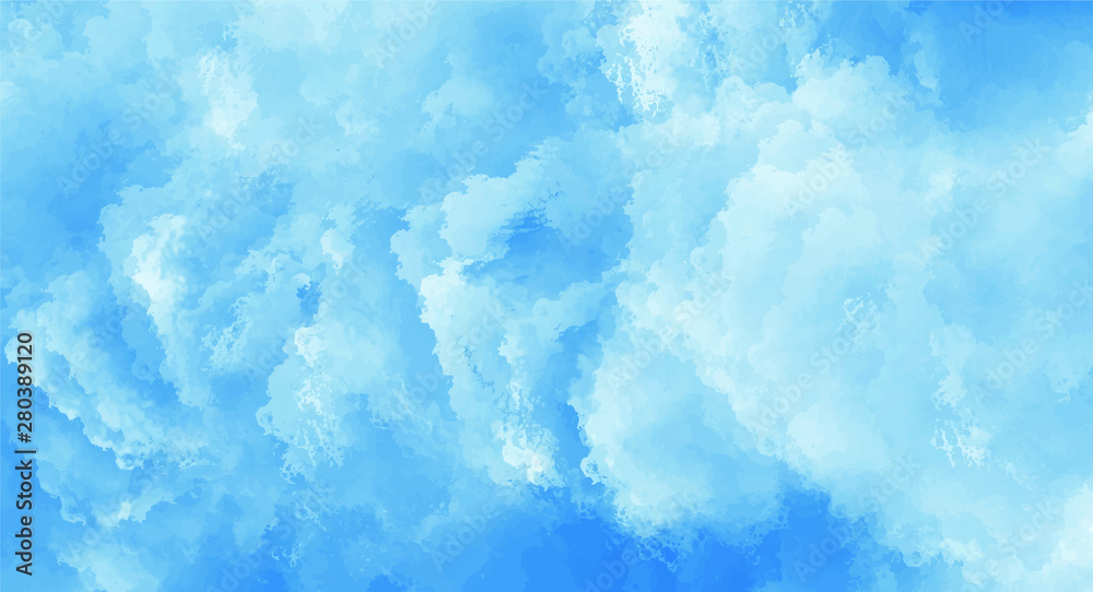 Fototapeta Blue watercolor background for your design, watercolor background concept, vector.