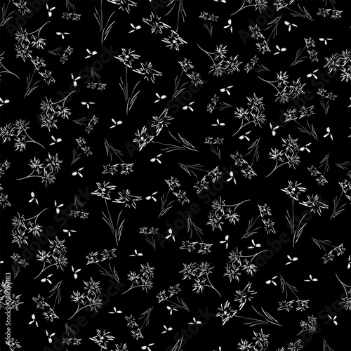 Türaufkleber Künstlich Abstract seamless pattern of cute hand painted simple flowers for textile,linens, clothes