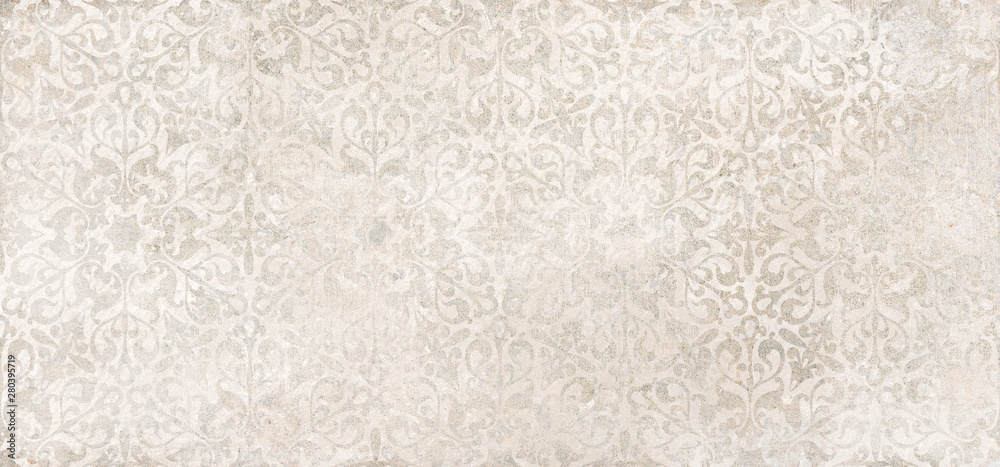 Fototapeta Beige cement damask pattern background