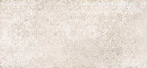 Beige cement damask pattern background