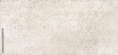 Fotomural  Beige cement damask pattern background