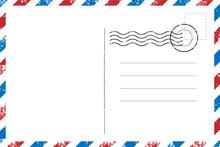 Blank Vintage Post Card Templa...