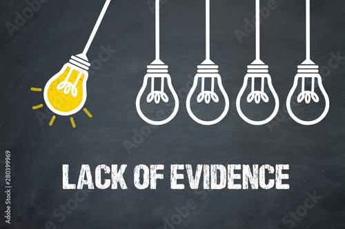 Fotografie, Obraz  Lack of evidence