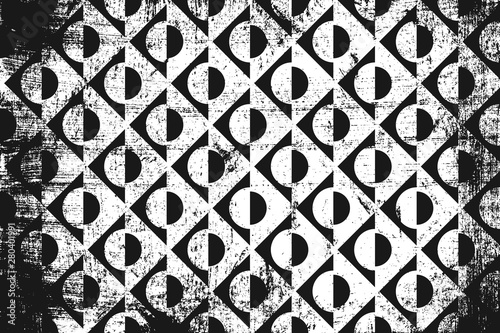 Grunge abstract geometric p...