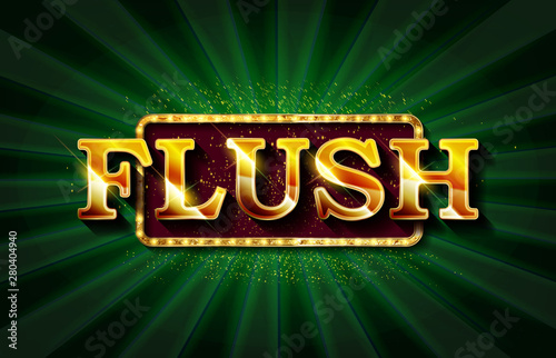Photo  Flush. Illustration Online Poker casino