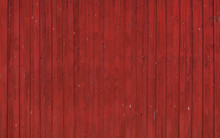 Rote Hausfassade Aus Holz In Schweden.  Hintergrund. Background. Old Red Color Wooden Facade Of Swedish House.